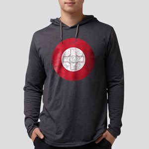 Malta Roundel Cracked Mens Hooded Shirt